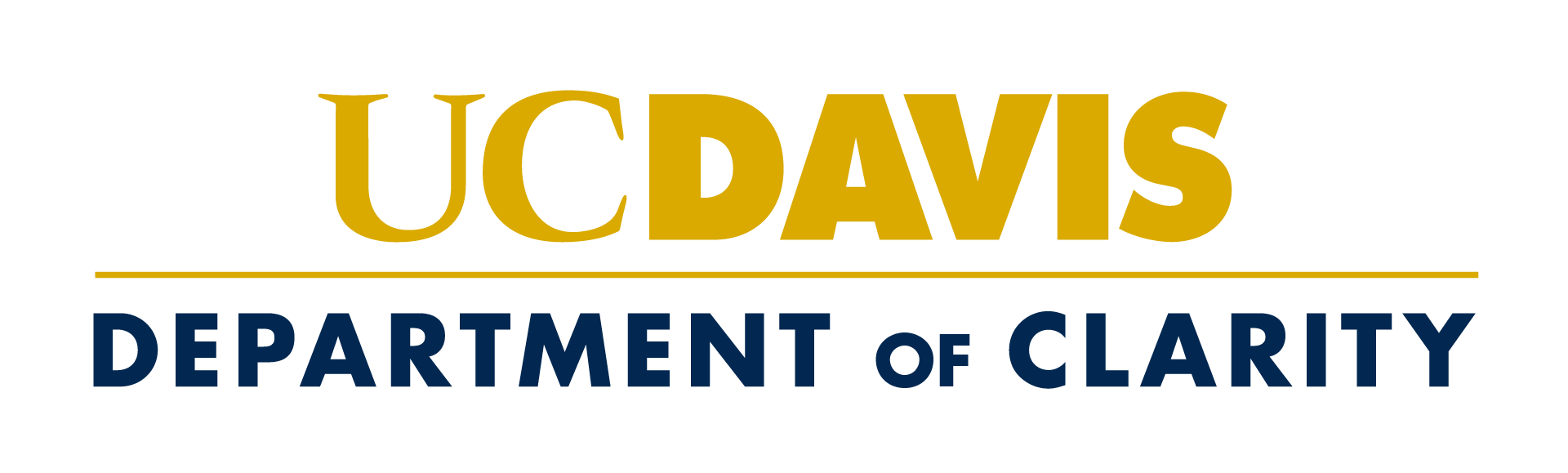 Unit signature showing only one level below the UC Davis wordmark